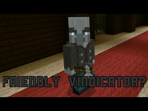 How To Tame A Vindicator MCPE 1103 Only