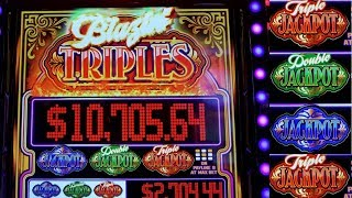 BIG JACKPOT HANDPAY  | MASSIVE SLOT WIN| Blazin Triple Jackpot Slot BIG HANDPAY💥15000 SUBSCRIBERS💥