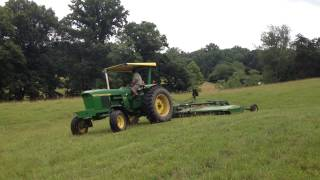 john deere 4020 and hx15 batwing rotary mower part 2 of 2 july 2014