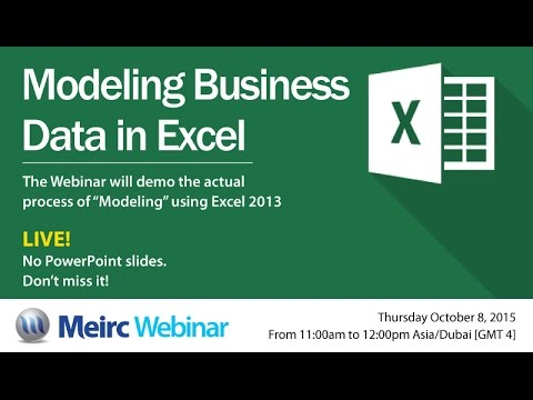 Modeling business data in Excel | Accounting and Finance| Dubai | Meirc