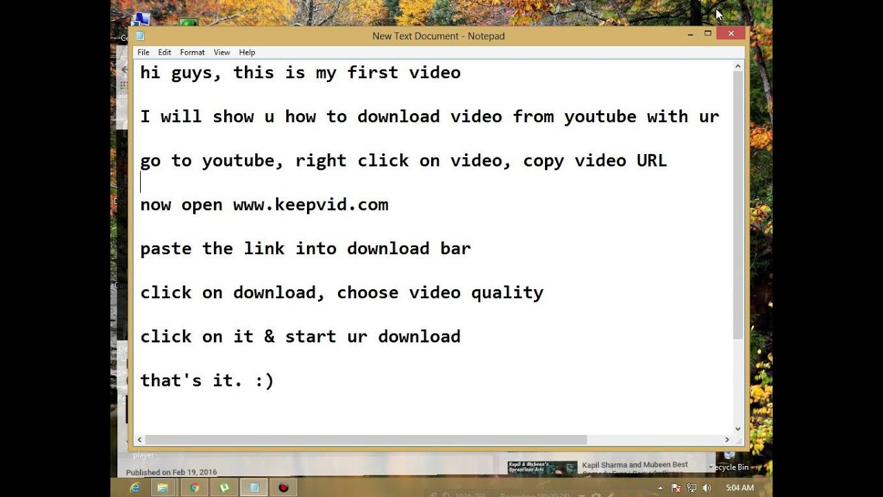 how to download youtube videos manually