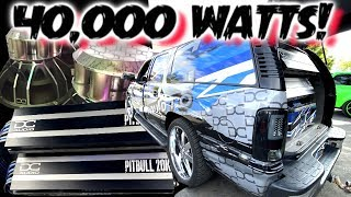 The 40,000 Watt BASSburban 2 DC Audio Pitbull 20k Pushing 6 NEO Elite 15's
