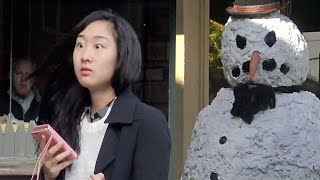 Scary Snowman Hidden Camera Practical Joke - Providence Rhode Island (2016) Episode 6