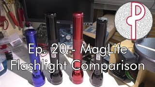 pts ep 20 a comparison of maglite flashlights