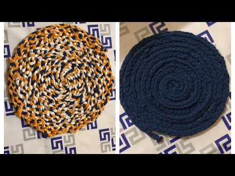 How to make doormat with old clothes/How to make doormats at home/Doormat with old clothes zaana 04