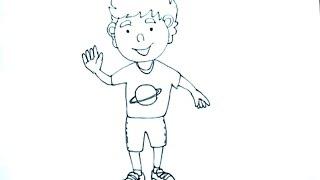 Dibujos para niños 2/9 - Cómo dibujar un niño - boy drawing