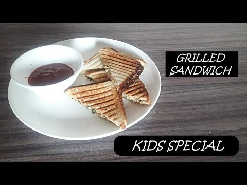GRILLED SANDWICH RECIPE/ GRILLED CHEESE POTATO FOR KIDS