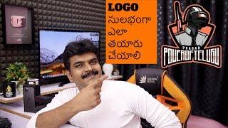 How to Make a Logo easy Method ll in Telugu ll