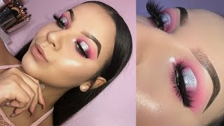 Pink Glitter Halo Eye | Valentines Day Makeup Look | Anais Rivera