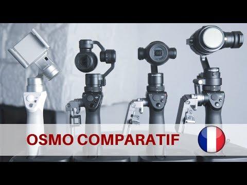 SERIE  OSMO DJI COMPARATIF