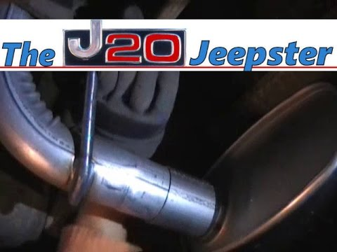simple walker cat back exhaust install on 99 jeep cherokee