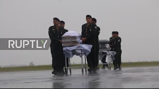 Brazil  Chapecoense players' bodies arrive in Chapeco ahead of burial