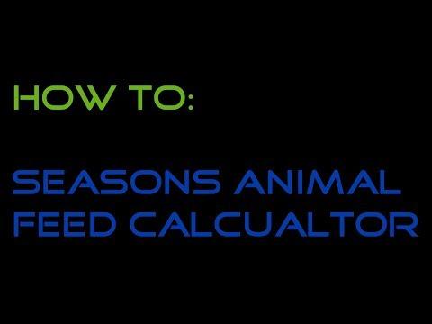 Howto - Animal Feed Calculator Spreadsheet