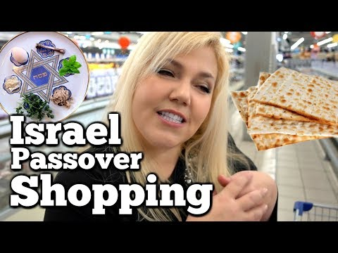 Grocery Shopping In Israel Before Passover
