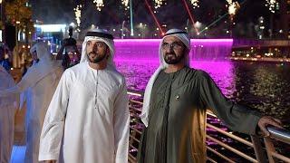 محمد بن راشد يفتتح قناة دبي المائية بتكلفة إجمالية 3.7 مليار درهم