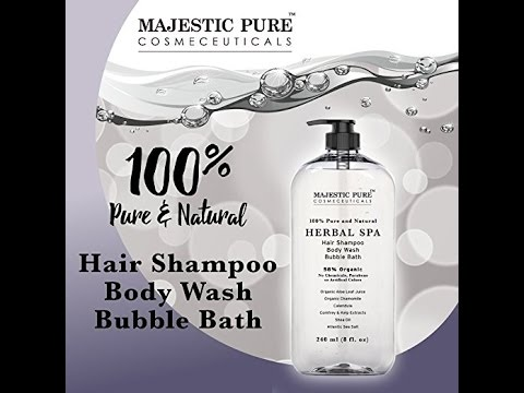 Majestic Pure Herbal Shampoo & Body Wash, Organic Chamomile, Sulfate Free, 8 Fluid Ounce