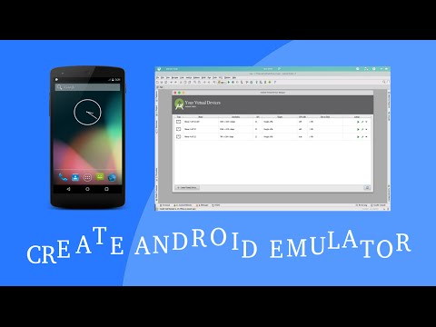 Create android emulator in android studio