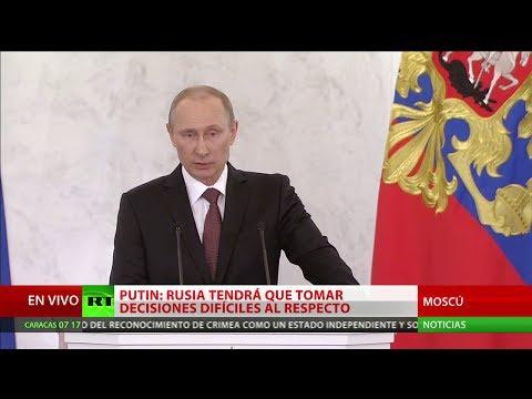 Histórico discurso de Vladímir Putin sobre la reunificación de Crimea con Rusia (VERSION COMPLETA)