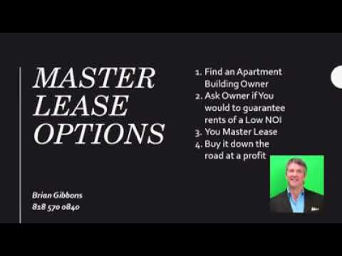 Apartments – Master Lease Option