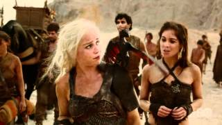 Game of Thrones Season 2 Episode 1 - Daenerys with Dragon