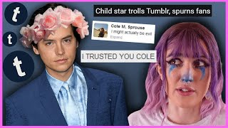 The Bizarre Story oḟ Cole Sprouse's Tumblr Experiment