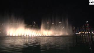 The Dubai Fountain, Downtown Dubai performs Lana Allah