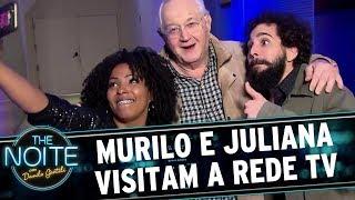 Murilo e Juliana visitam a Rede TV    The Noite (22/09/17)