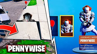 Pennywise's Secret Hideout On Map & Skin With Rewards Fortnite Battle Royale
