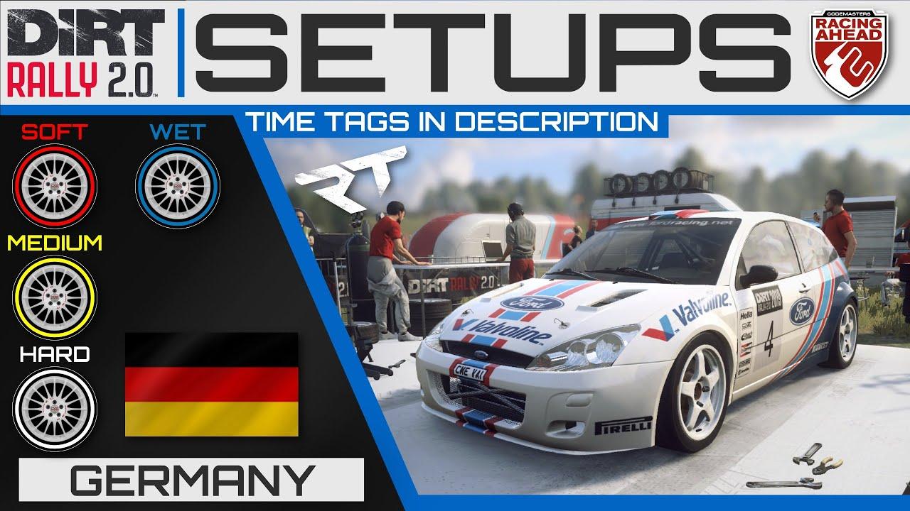 Ford Focus RS WRC 2001 | Germany SETUPS | DiRT Rally 2.0