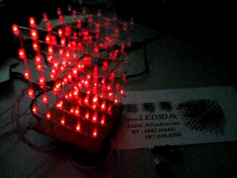 3D LED CUBE  5x5x5