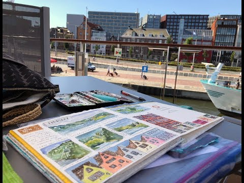 Traveling Accordion Sketchbook ~ Europe River Cruise Journal 2018