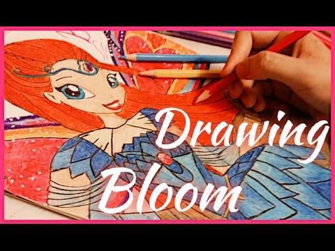 How to draw Bloom/Winx club/Как нарисовать Блум/Клуб винкс/