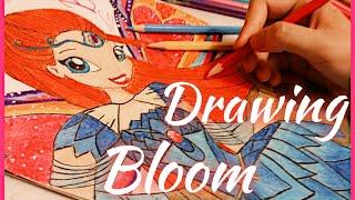 How to draw Bloom/Winx club/Как нарисовать Блум/Клуб винкс/(, 2016-09-07T08:16:09.000Z)
