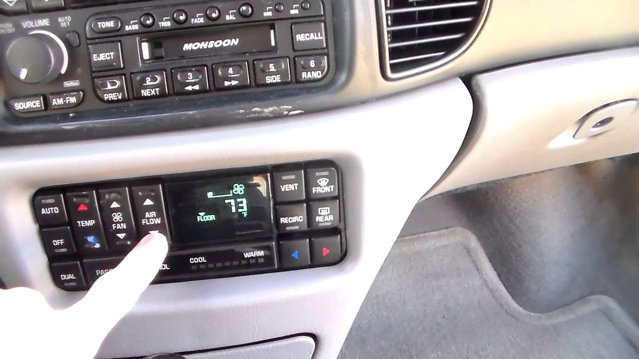 199703 Buick Regal climate control display repair part 3