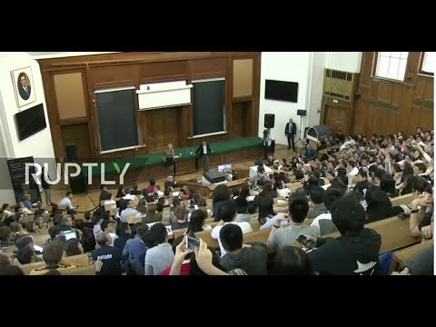 LIVE: Jack Ma holds lecture at Moscow State University