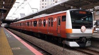 【FHD】JR中央本線(中央快速線) 三鷹駅にて(At Mitaka Station on the JR Chuo Main Line (Rapid Service))