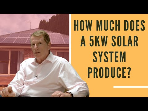 How Much Power Does A 5kW Solar System Produce?