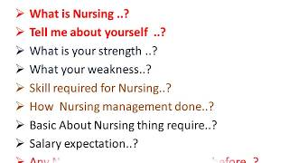 Nursing interview: nursing interview questions and answers in india