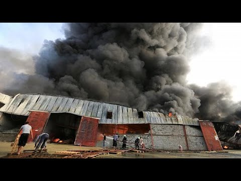 Food, aid destroyed in UN World Food Programme warehouse blaze