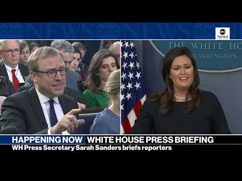 White House press briefing on Trump's 2020 budget, border wall funding| ABC News