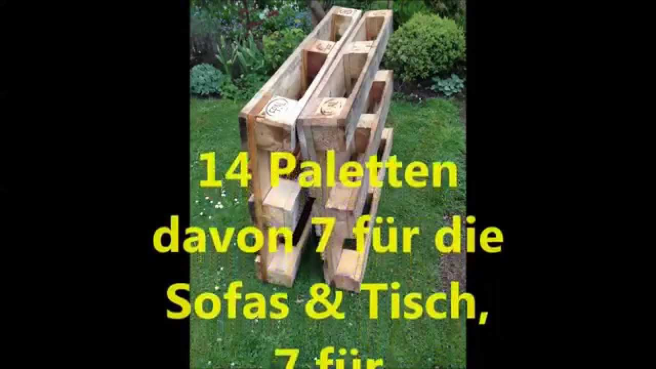 gartenm bel aus euro paletten youtube. Black Bedroom Furniture Sets. Home Design Ideas