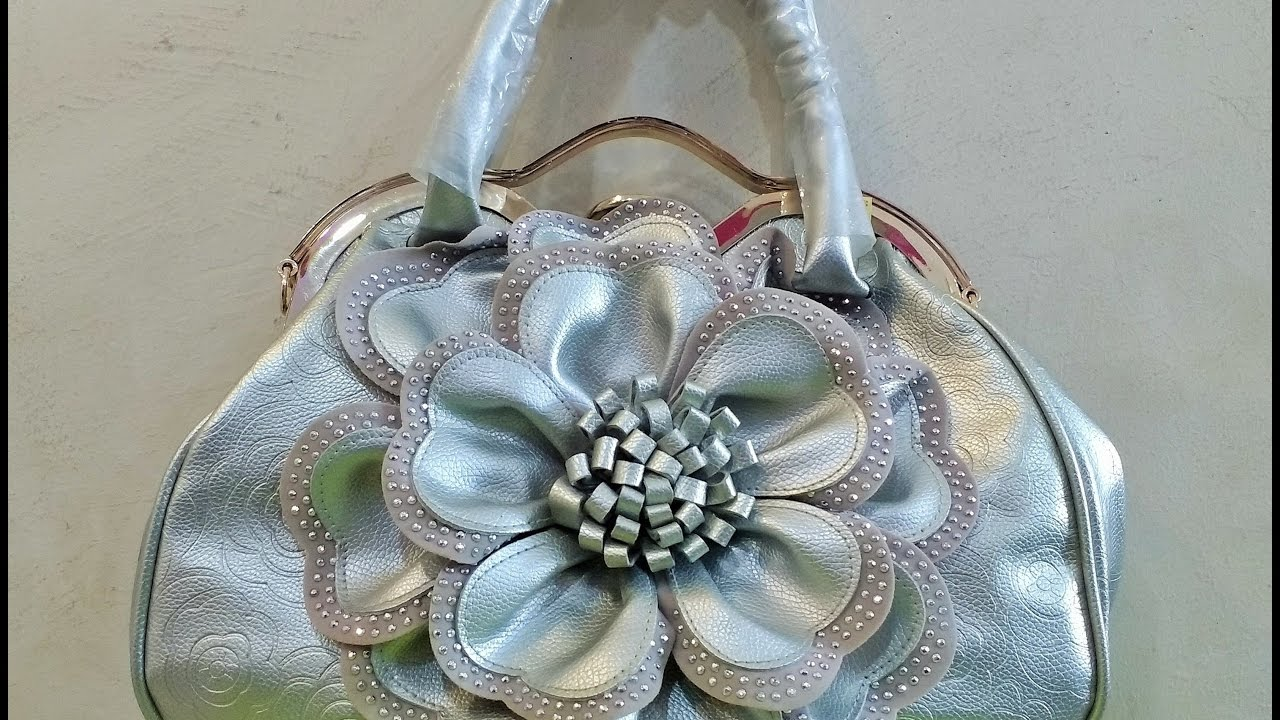 Womens Fancy Hand Purse With Stones Design Youtube