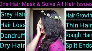 100% Natural Hair Mask For All Hair Issues|AlwaysPrettyUseful By PC