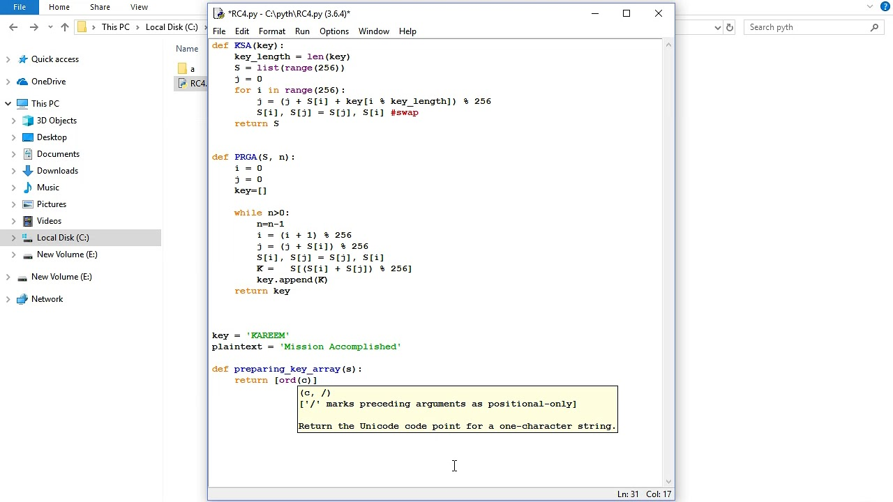 RC4 in Python