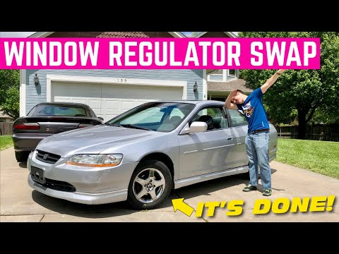 CHANGING The Window Regulator On My Honda Accord EX COUPE For $36