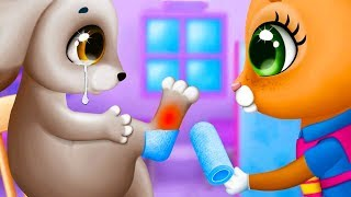 ДОКТОР КИД #5 Спасаю зайку, котиков и других животных в прикольной игре для детей #пурумчата