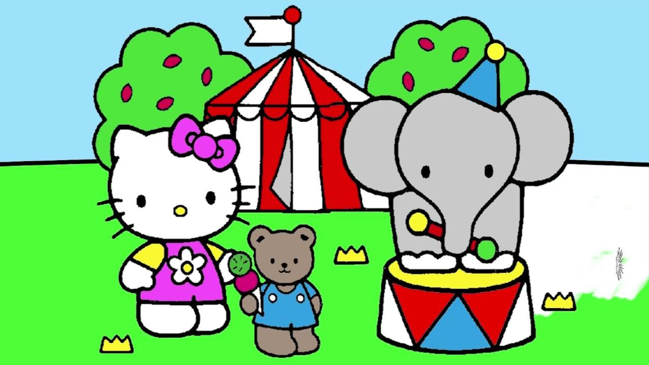 hello kitty coloring page 5 little hands coloring book youtube