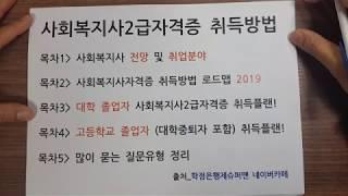 사회복지사자격증 (사회복지사2급자격증) 취득방법 202…