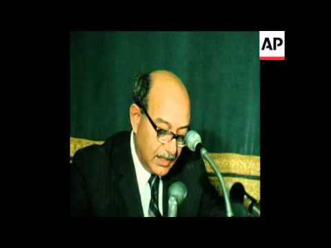SYND 21/05/74 INAUGURAL MEETING OF THE JOINT ARAB DEFENCE COUNCIL IN CAIRO