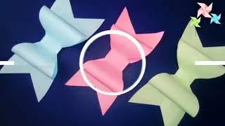 МК, Бантики из бумаги своими руками, просто и быстро, оригами,